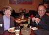 Nancy Hammer '68 and Joe Pennino enjoy the pre-concert cafe reception at Backstage Coffee on Saturday evening, 1/25/14.