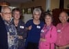 Richard Wagner '52, Sonia Wagner, Frances Rogers Ippensen '60, Mary Lu Hudson Aft '60, and Dick Aft '60
