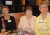 Anne Wetzel Faubel '60, Susan Shea Worthington '61, and Barb Lee Fay '61