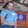 Cameron Burke '09 sporting his Knox Choir Tour '09 t-shirt.