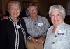 Phyllis Holowaty Albrecht '56, Jane Nelson Johnson '54, and Alice Hunter Powelson '55