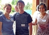 Emma Thornton-Kolbe '17 with Samuel Chen '16 and his mother, Xiaoling Su